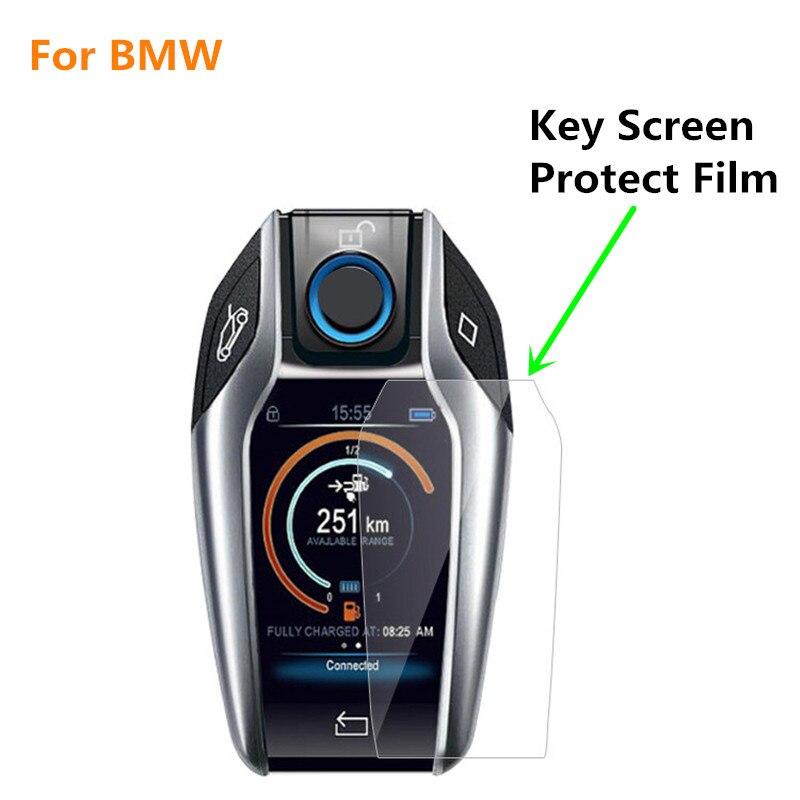 Tela sensível ao toque chave digital chave tela hd película protetora anti-risco filme impermeável para bmw x3 x4 x5 i8 730li 740li 5/6/7