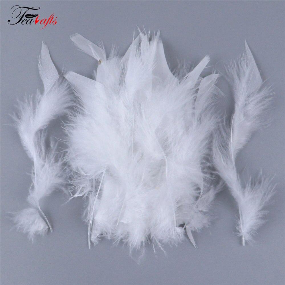 100 шт Красочные турецкие перья Marabou пары 10-15 см перья для рукоделия Ювелирные костюмы украшения