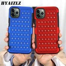 Glitter Rhinestone Case Voor Iphone 11 Dual Layer Hybrid 11 Pro Max Telefoon Shell Zware Bescherming Diamant Patroon Terug cover