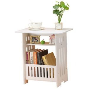 room bedside coffee table bedroom Bedside balcony magazine coffee table garden small square table Convenient computer desk