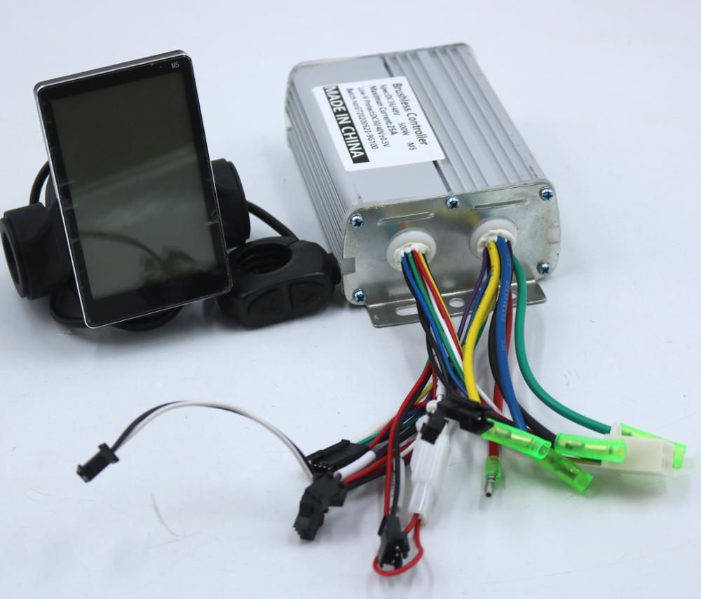 GREENTIME/V/36V/48V 500W 25A controlador de motor BLDC E-Bicicleta de velocidad sin escobillas controlador y M5 pantalla LCD un conjunto