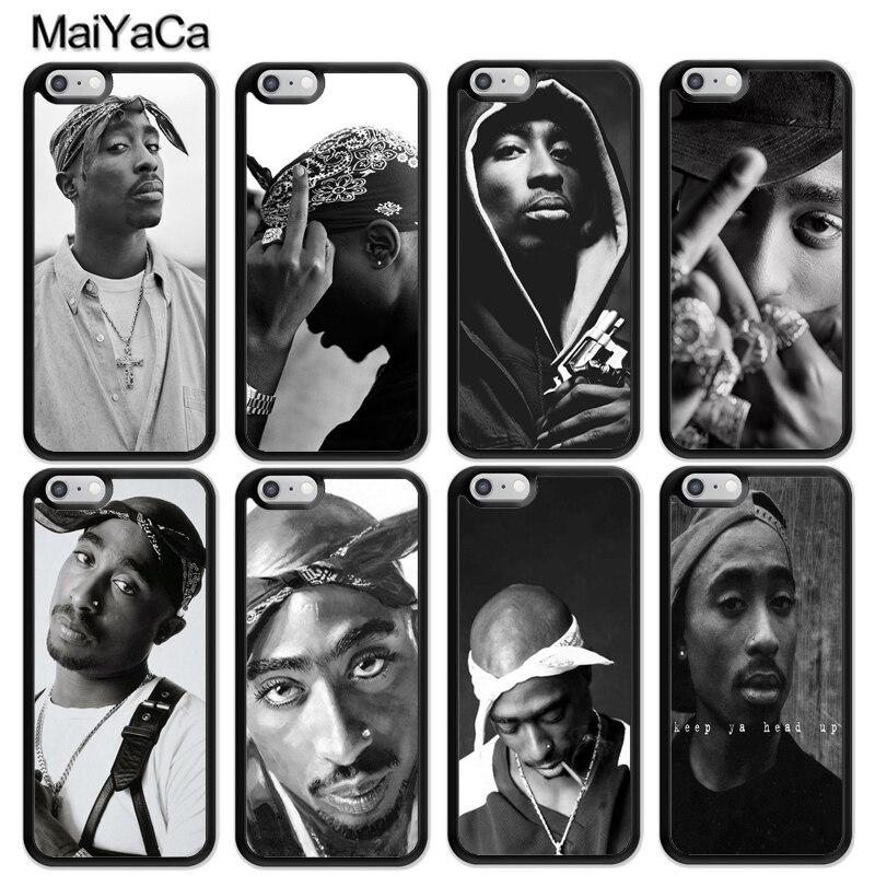 Чехол MaiYaCa 2pac Tupac Shakur Rap для iphone 11 Pro MAX X XR XS MAX SE 2020 6S 7 8 Plus 5S