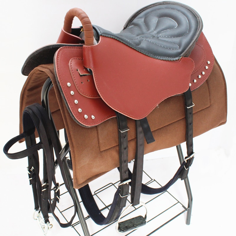 Horse Saddle Accessory Seat Blanket Pad Full Set Horse Riding Harness Cowhide Leather Equestrian Horseback Horse Rider Equipment