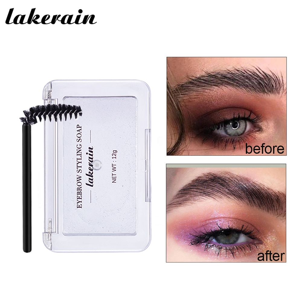 Transparent Eyebrow Gel Long Lasting Brows Wax Soap Eyebrow Cream Setting Waterproof Eyebrows Enhancers Brush Korean Makeup Kit недорого