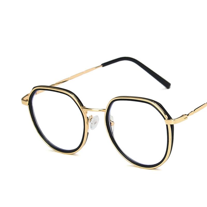 لووريلا-نظارات مستديرة مضادة للأشعة الزرقاء ، إطارات بصرية عتيقة شفافة ، عدسات شفافة ، 8102