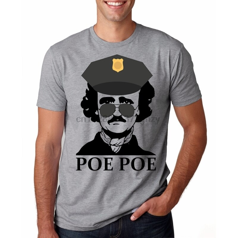 T Shirt Men Funny tshirt Edgar Allan Poe Graphic T-Shirt(1)