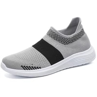 womens plus size socks shoes womens new breathable flying knit shoes womens pedal flat mesh casual shoes