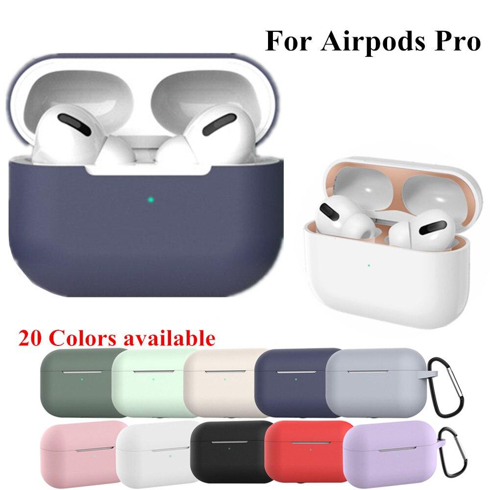 Funda de silicona para los Airpods de apple Pro carcasa con adhesivo...
