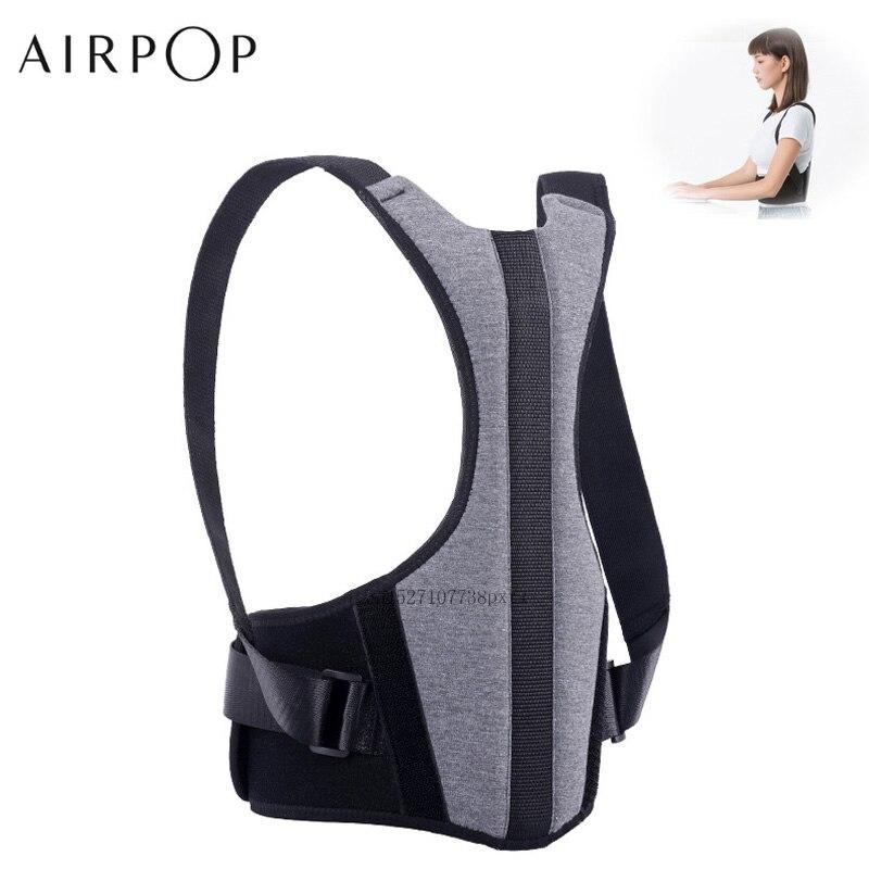 Airpop Регулируемый корсет для спины Корректор осанки поддержка позвоночника пояс Поясничный корректирующий бандаж Корсет для мужчин и женщин