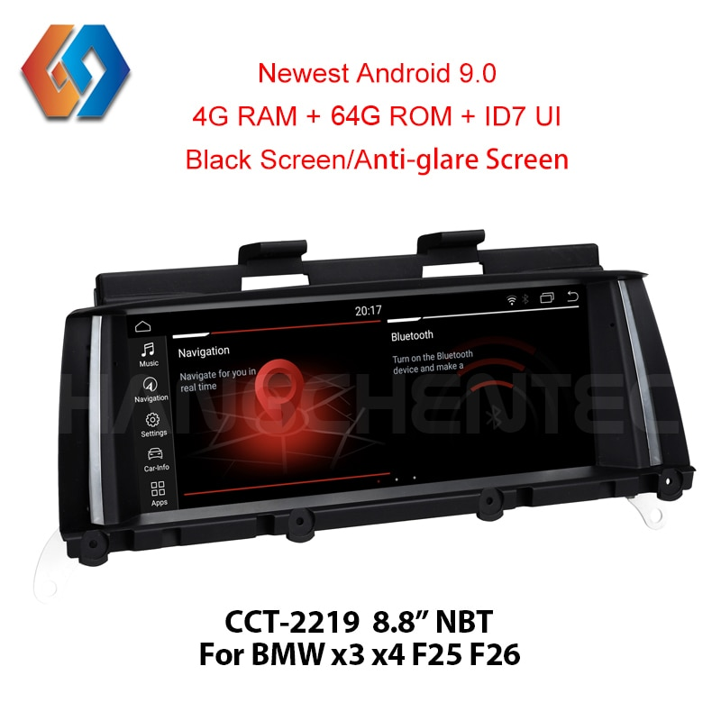 Para BMW X3 F25 X4 F26 NBT, navegación GPS, Android 9,0 Px6 4 + 64, reproductor Multimedia BT WiFi para coche, compatible con DVR, cámara trasera, TV Aux, Big Touch19