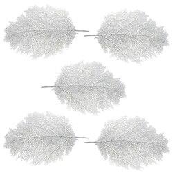 5 pçs grande artificial macio coral ramo diy folha de palmeira placemats mesa corredores decorações para havaiano luau festa casamento