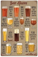 tin logo bar beer glass collection club hotel restaurant retro metal logo wall decoration 8x12 inches