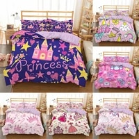 kids gril princess bedding set king queen full twin size duvet cover set quilt cover pillowcase bed set no bed sheets bedclothes