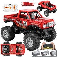 1760Pcs City 4WD Off Road Vehicle Building Block high-tech SUV RC/non-RC Racing Car Truck Diy Bricks Toys for Boys