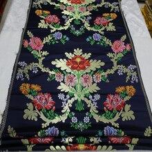Robe chinoise cheongsam en tissu pour mongolie   Tissu de film tibétain, tissu en broderie jacquard en vent/broderie rotative