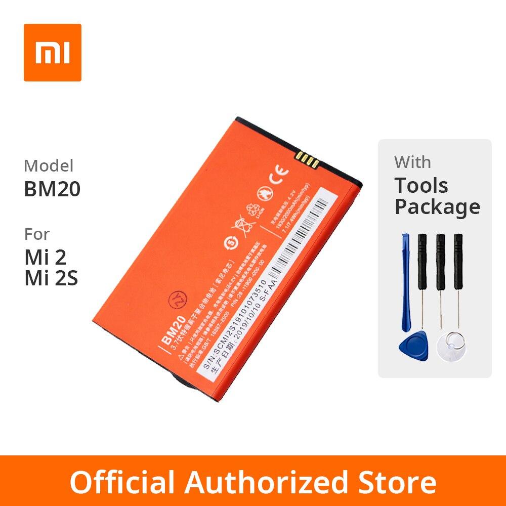Xiao mi Original mi 2/mi 2s téléphone batterie modèle BM20 capacité de la batterie 2000mAh tension de la batterie Li mi t 3.7V pour Xiao mi mi 2/mi 2S