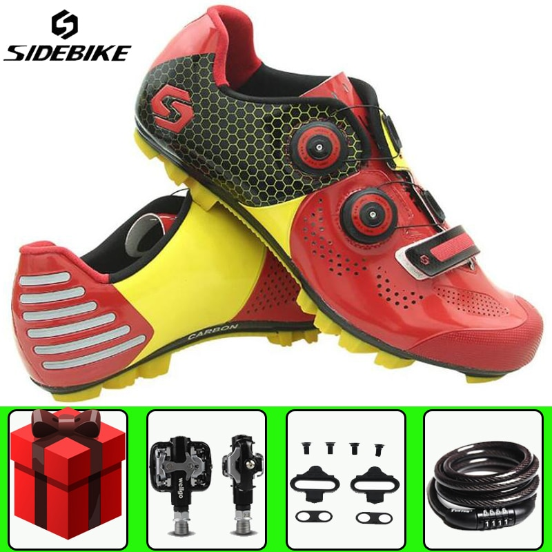 Sidebike zapatos de ciclismo sapatilha ciclismo mtb añadir Bloqueo de pedal bicicleta de montaña carreras hombres mujeres deportes Nylon TPU suelas zapatos