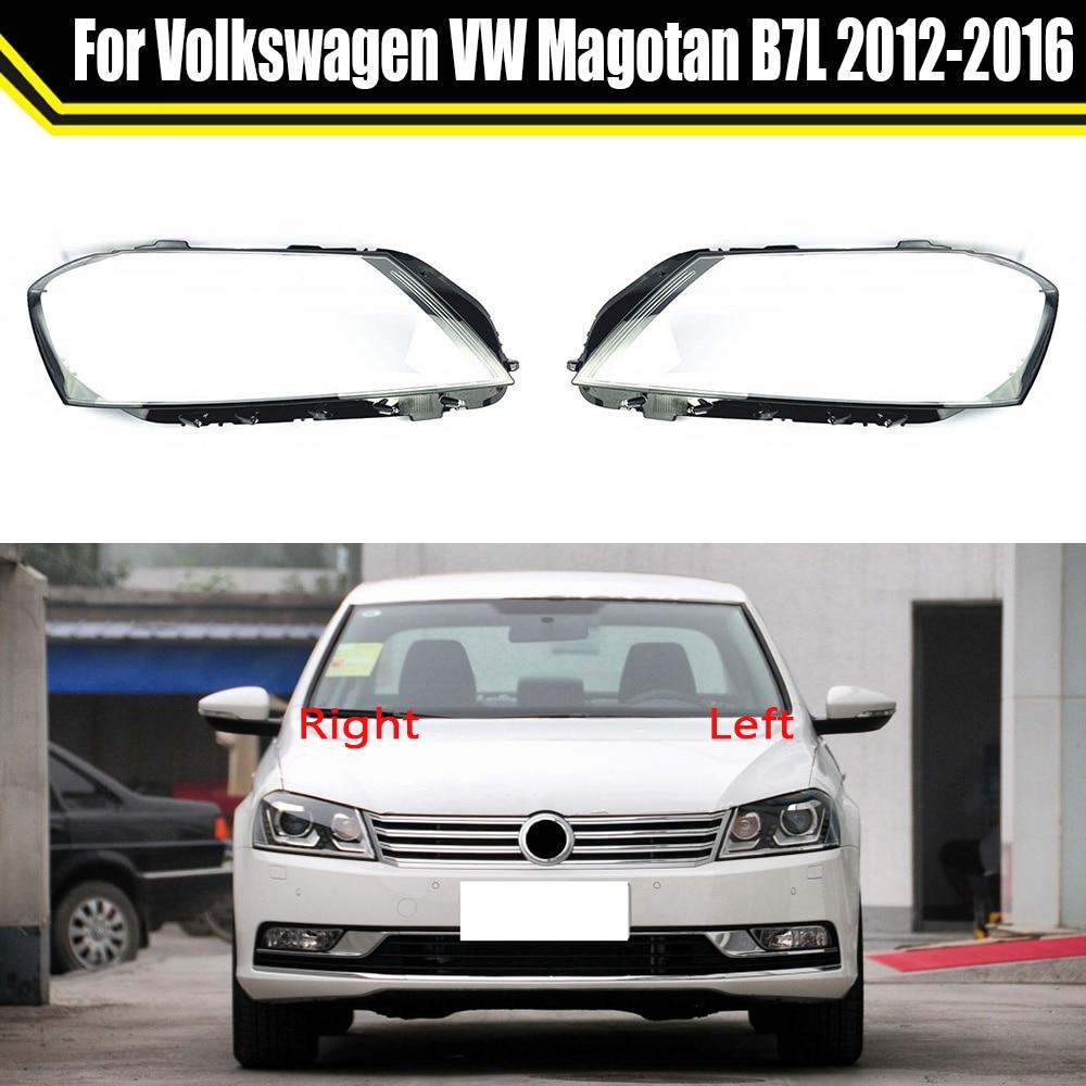 Автомобильная передняя фара, стеклянная фара, прозрачный абажур, корпус лампы, Автомобильная крышка объектива для Volkswagen VW Magotan B7L 2012 ~ 2016