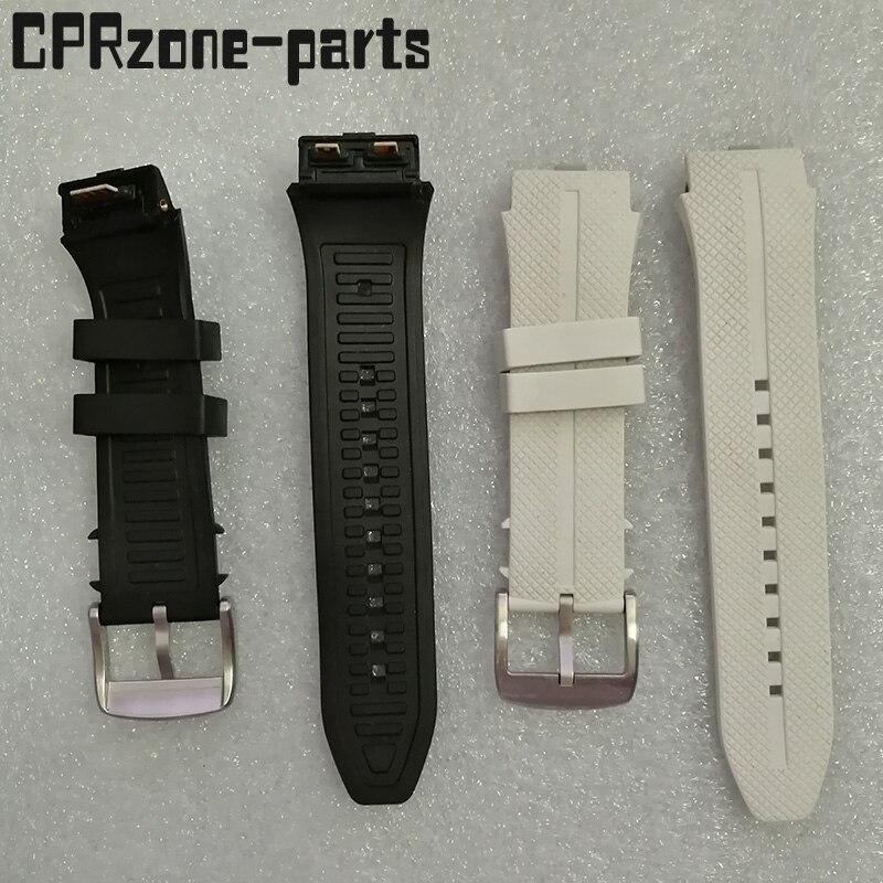 100% الضمان مربط الساعة حزام ساعة اليد البلاستيك المطاط الأشرطة مع هوائي ل LG المهذب 2 LTE w200 ساعة ذكية شحن مسامير + أدوات