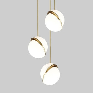 Modern Led Pendant Light Fixture Glass Lampshade Minimalist Hanging Lamps For Shop Restaurant Bedside Nordic Droplight Home Deco