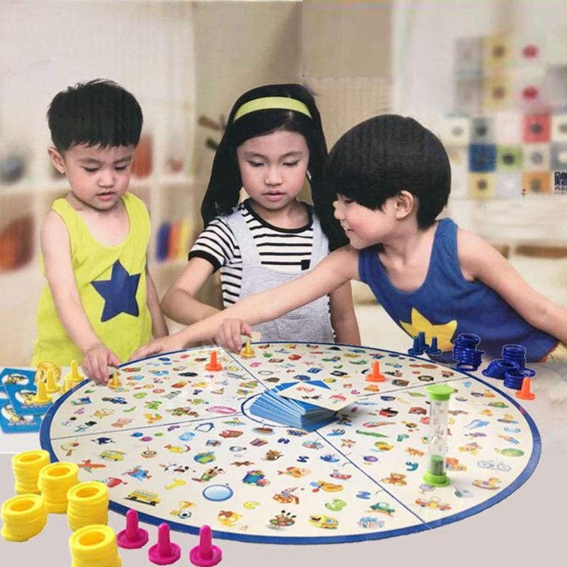 Parent Child Interaction Kids Detectives Looking Chart Board Game Plastic Puzzle Brain Training Education Kit Learning Gift