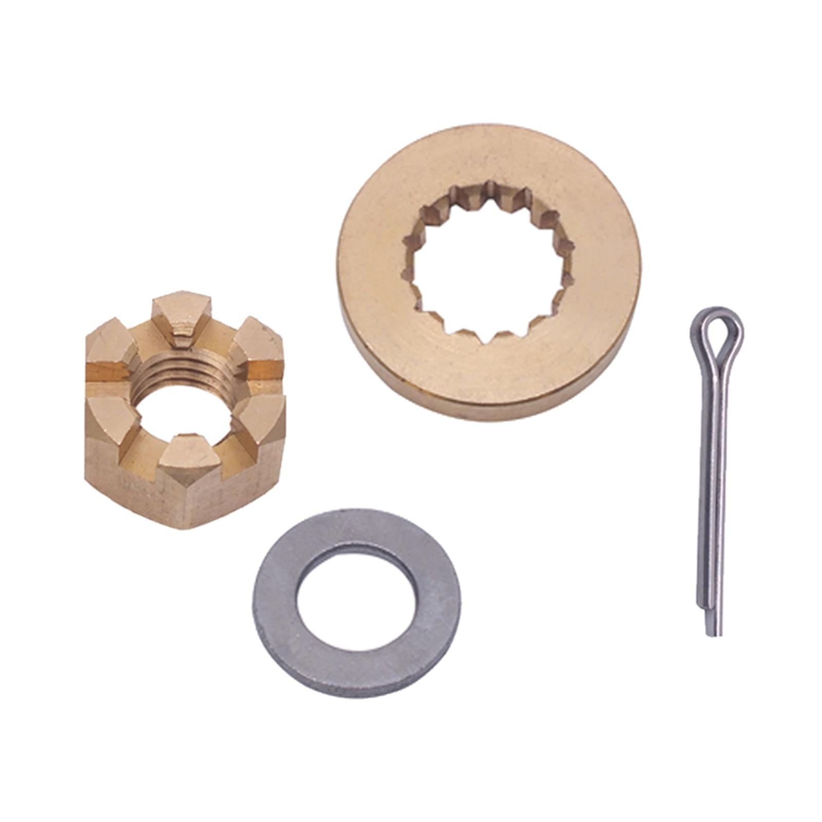 Propeller Hardware Kits Thrust Washer Spacer Nut ForBRP/JOHNSON/EVINRUDE/OMC 2 Stroke 15-35HP Propeller Installation