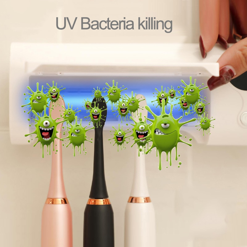 New Anti-Bacteria Toothbrush UV Sterilizer 2 in 1 UV Light Toothbrush Holder Bacteria Killing Toothbrush Cleaning Machine enlarge