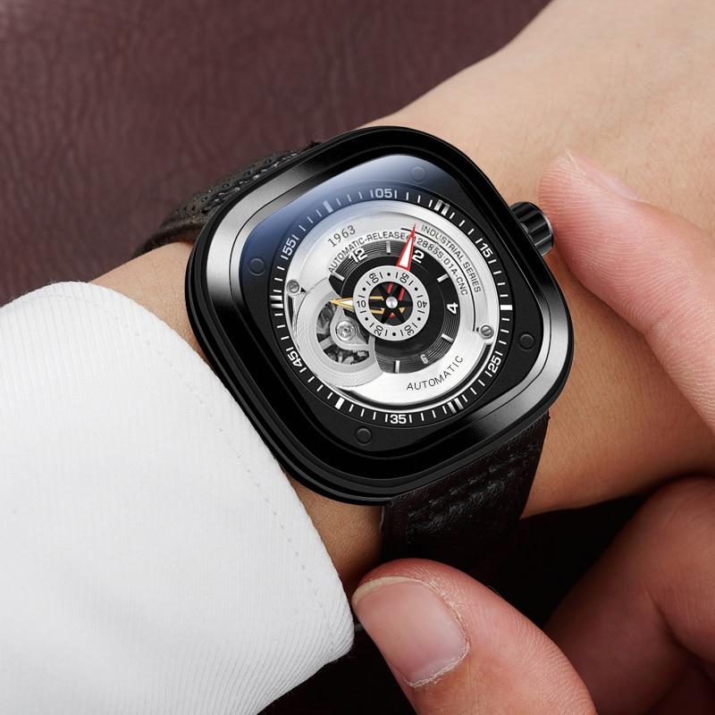 AESOP Brand Fashion Watch Man Waterproof Luxury Black Casual Automatic Mechanical Wristwatch Business Clock Relogio Masculino enlarge