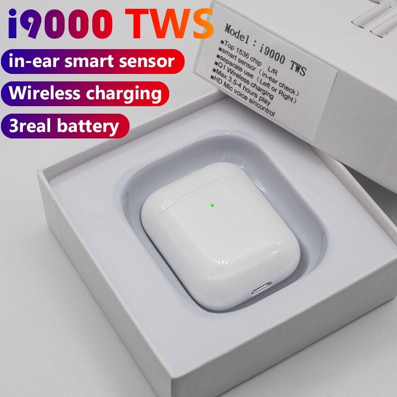 I9000 Tws 1:1 auriculares inalámbricos con Sensor Bluetooth en el oído, auriculares Supergraves PK H1 W1chip i120 i100 i500 i2000 TWS