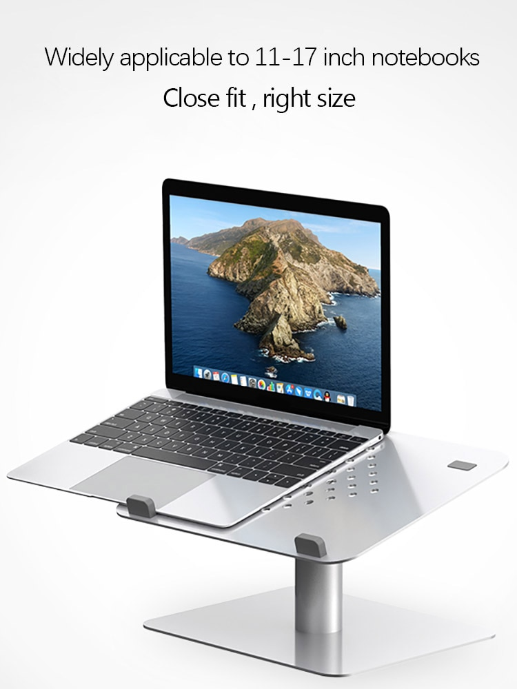 حامل كمبيوتر محمول سبائك الألومنيوم تدوير دعم كمبيوتر قابل للتعديل قاعدة رفع التبريد الناهض حامل ل 11-17 بوصة دفتر
