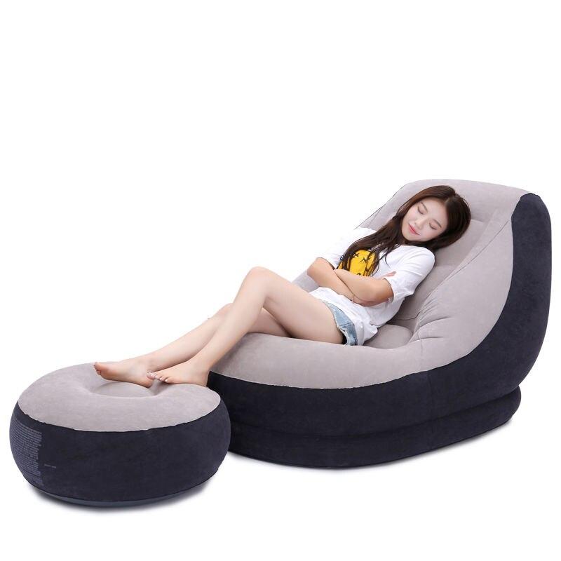 Sofá inflable pequeño y creativo, Tatami, para apartamento, cama reclinable plegable