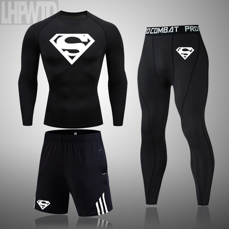 Thermal Underwear For Men Male Thermo Clothes compression set Thermal Tights Winter leggings basketb
