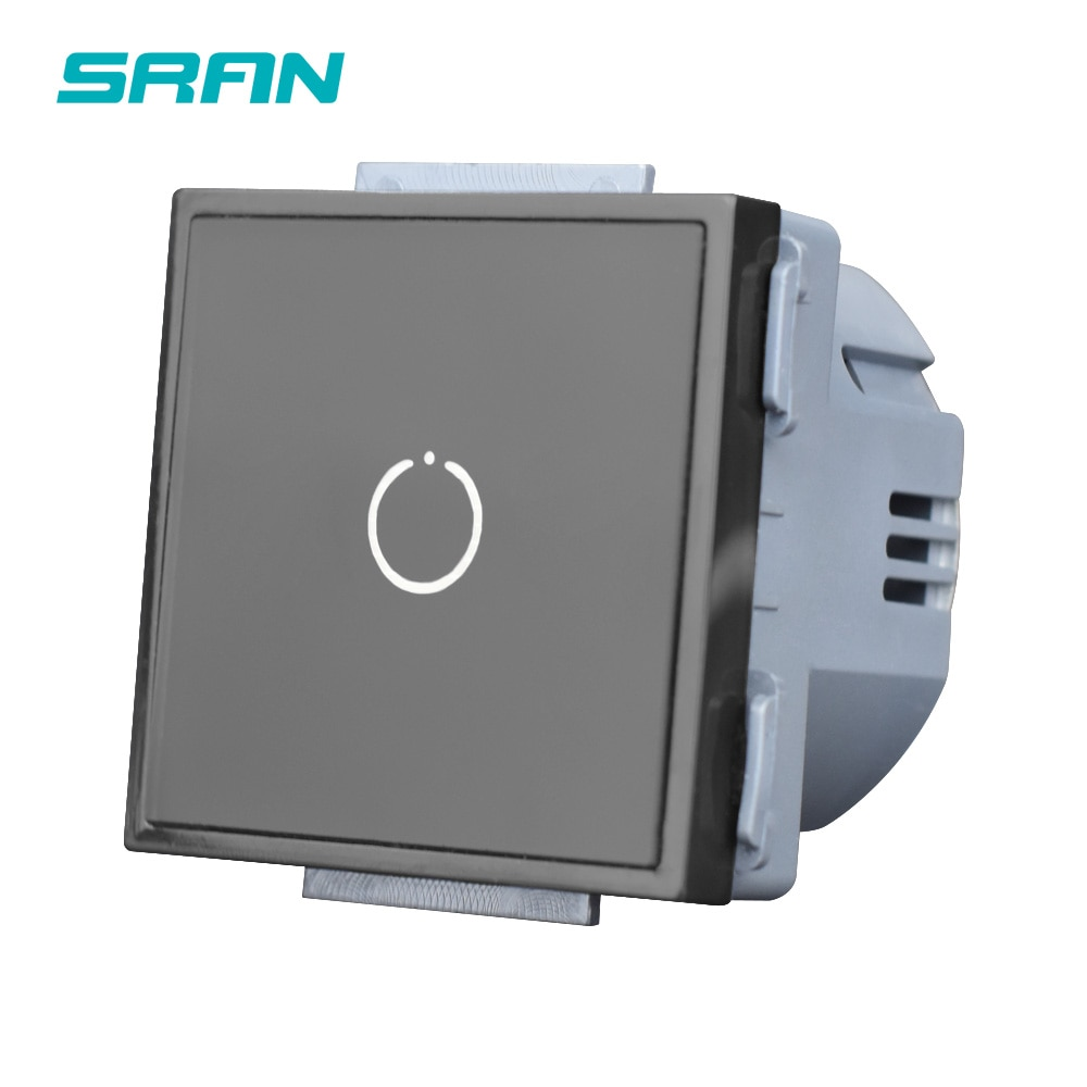 Módulo de función de interruptor de sensor SRAN 52*52 con accesorios de vidrio adecuado para 86*86 paneles de placa de aluminio Interruptor táctil uk