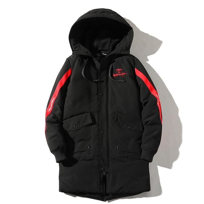 Мужская зимняя куртка с капюшоном, повседневная мужская парка, уличная одежда, длинная повседневная мужская верхняя одежда, мужская ветров...