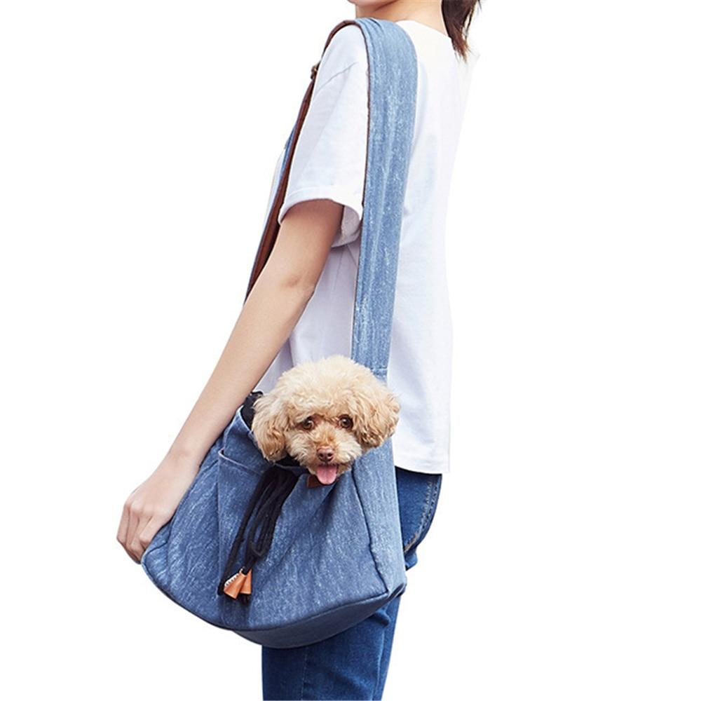 Bolsa de viaje para perros pequeños bolsa de transporte correa de hombro gato gatito bolsa de pecho suave bolsa delantera trasera para mascotas bolsa de manos libres