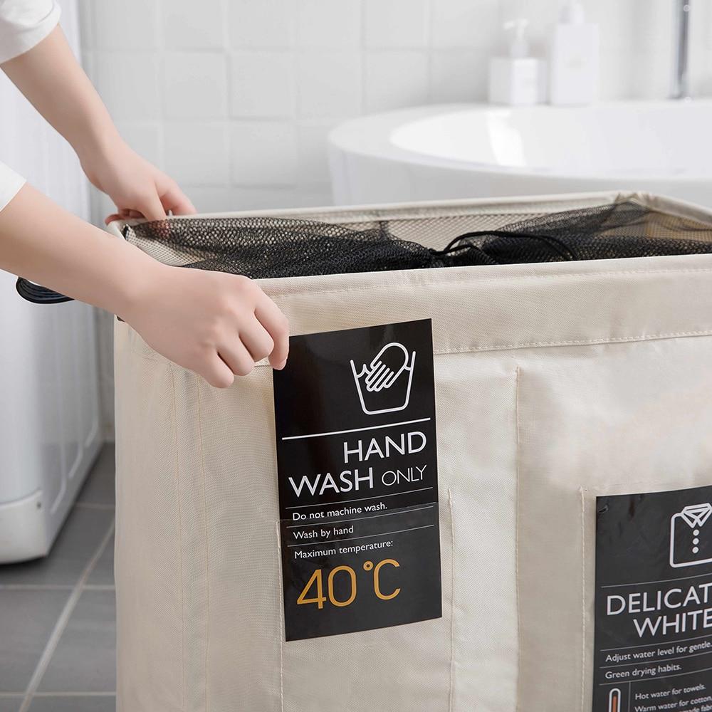 الثقيلة سلة الغسيل القابلة للطي حقيبة أكسفورد سليم الغسيل الأسطوانة المنظم حقيبة المنزل بسيط طوي سلة الغسيل
