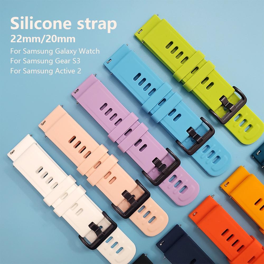 Correa de muñeca de silicona para Samsung SM-R820 R830 R500 R600 R810 R800 R8050 banda de reloj activa 2 44mm 40mm Gear S3 pulsera de correa de reloj