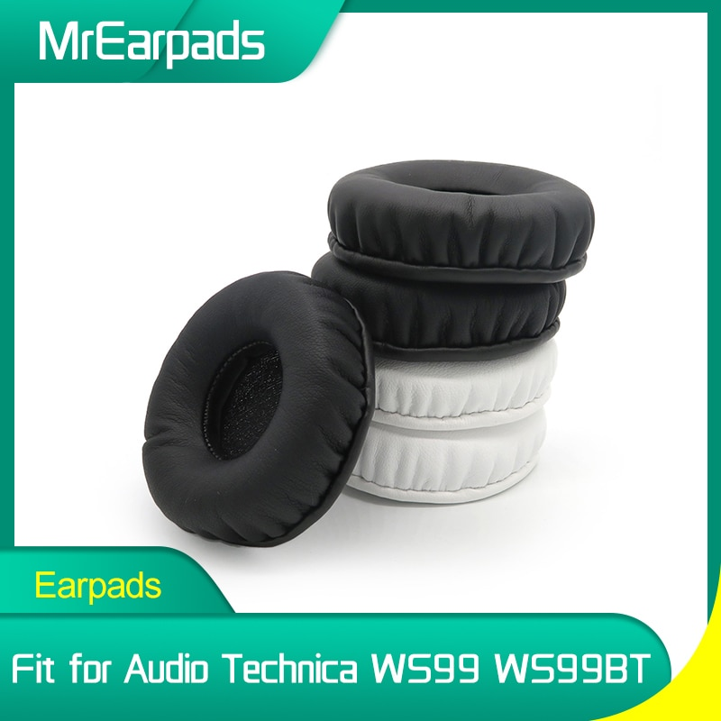 MrEarpads Earpads For Audio Technica ATH WS99 WS99BT Headphone Headband Rpalcement Ear Pads Earcushions Parts ear covers ear pads for audio technica ath ws99bt ath ws99bt headphone replacement earpads