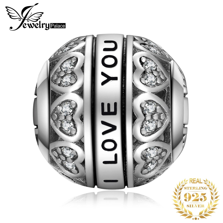 Jewelrypalace amo você 925 prata esterlina grânulos encantos prata 925 original para pulseira de prata 925 original grânulo jóias fazendo