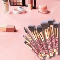 yxn 2021 transparent makeup brushes tool set cosmetic powder eye shadow foundation blush blending beauty make up brush kit tools