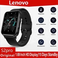 lenovo s2 pro smart watch men thermometer heart rate monitor fitness tracker 1 69 ips touch screen ip67 waterproof smartwatch