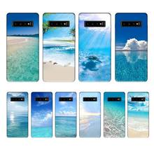Sea beach nature luxury brand case coque fundas for samsung galaxy S8 S9 S10e S20 PLUS J6 J600 cases cover