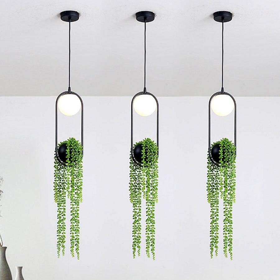Thrisdar-مصباح معلق على الطراز الاسكندنافي مع نبات فني ، تصميم إبداعي ، إضاءة داخلية مزخرفة ، مثالي لغرفة الطعام ، القهوة ، البار ، المطعم أو الشر...