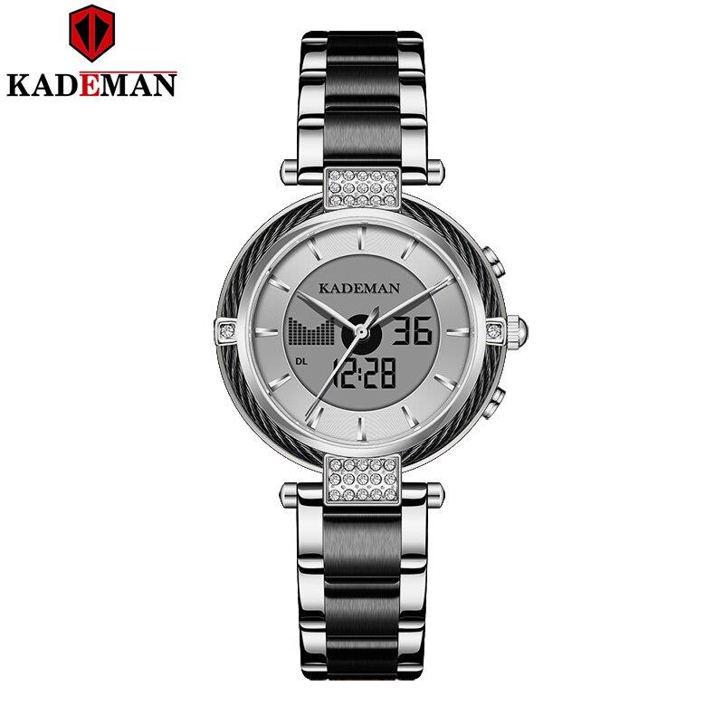 Relojes de lujo KADEMAN para mujer, marca superior LCD, reloj de negocios, pulsera de moda para mujer, relojes de pulsera digitales, reloj de chica