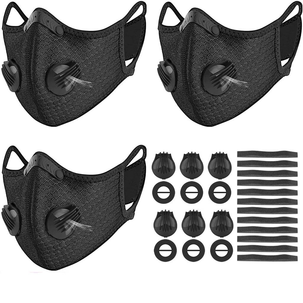 IN STOCK maska Mouth Dust Filter Safety 3 Sports  breathable maske tapabocas Washed Reusable Maska  Washed Reusable