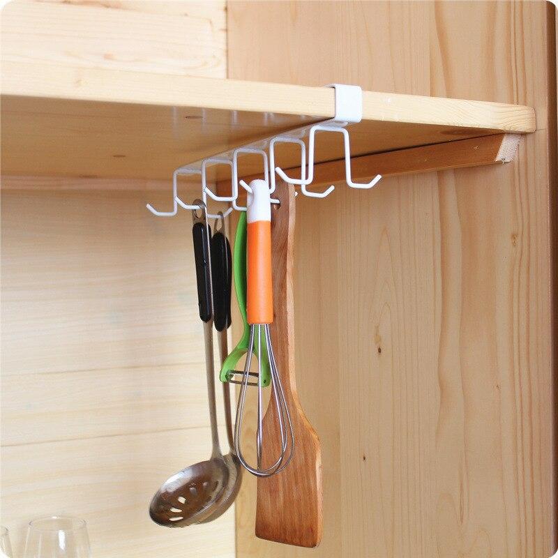 Kitchen Storage Rack Cupboard Hanging Hook Shelf Cup Hanger Storage Shelf Organizer Hooks