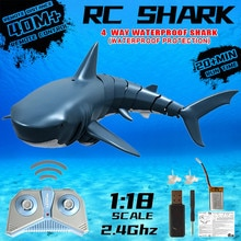 Rc Shark Toys Radio Remote Control Electronic Swim Fish Boat Durable 4 Channel Underwater Toy Funny