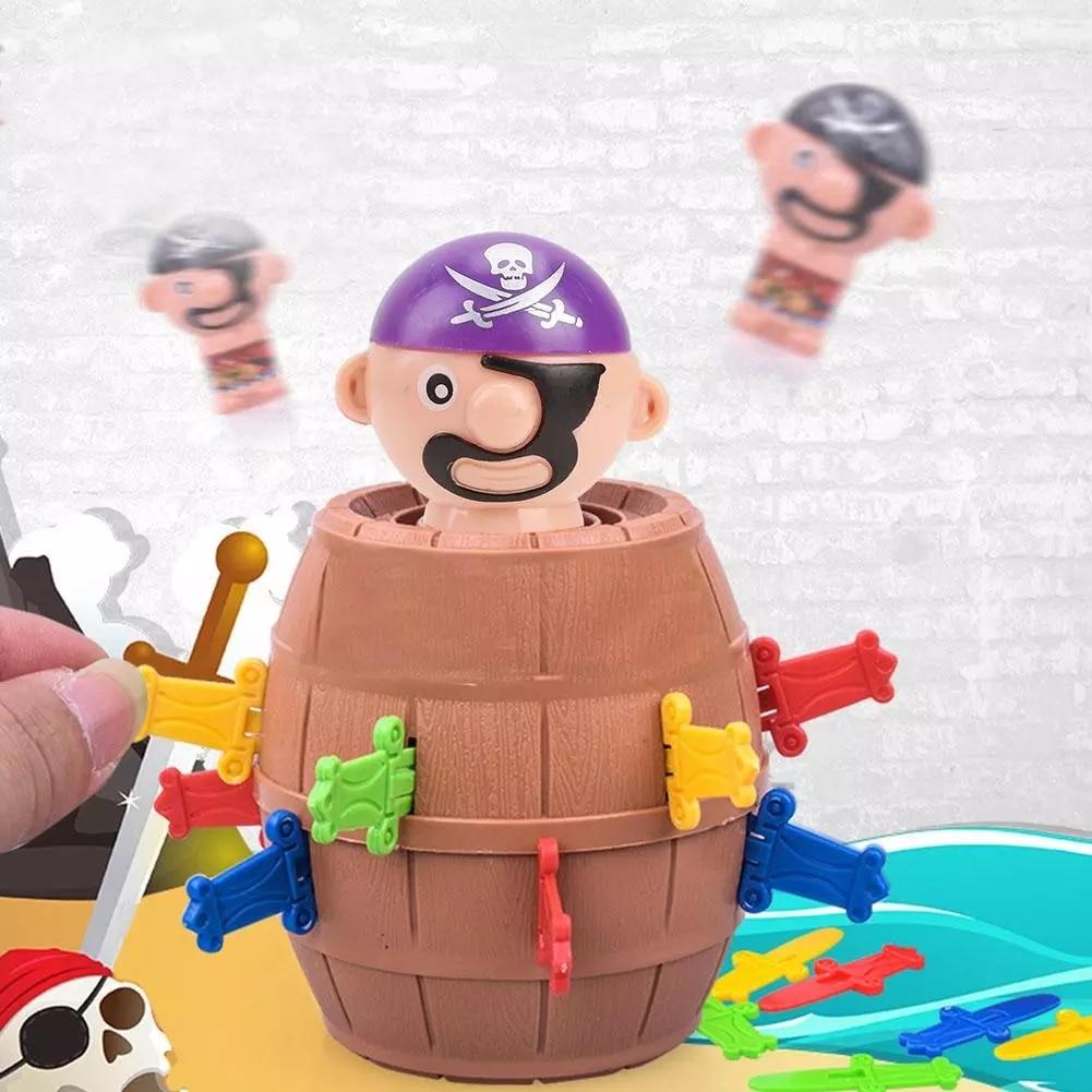 2021 Hot Sale Funny Novelty Kids Children Lucky Game Gadget Jokes Tricky Pirate Barrel Bucket Kiddie Toy Gift