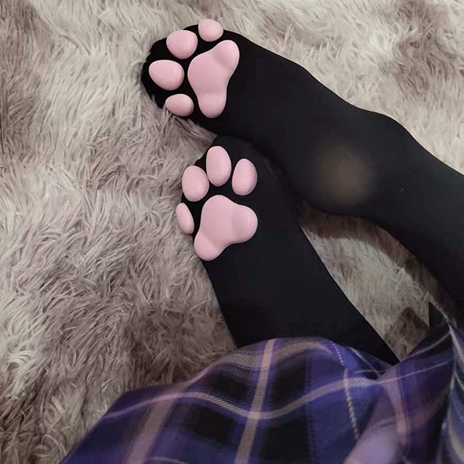 New Cat Paw Socks for Women Girls Kawaii 3D Cat Claw Toe Beanies Cute Gift Lolita PawPads Cosplay Cat Paw Pad Thigh High Socks