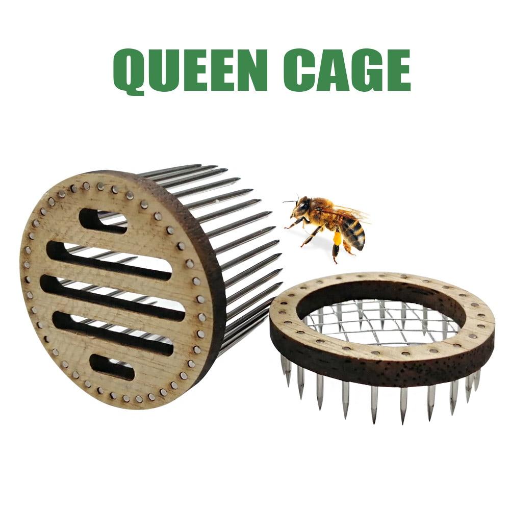 New Queen Bee Cage Stainless Steel Needle Type Catcher Isolation Room Beekeeping Equipments Beekeeper Supplies недорого